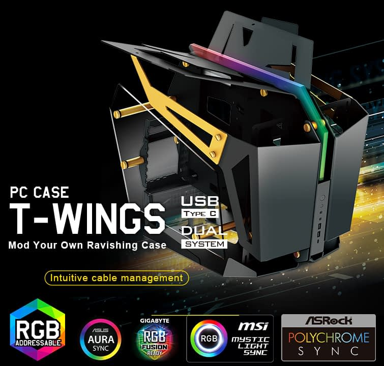 FSP announces the new T-WINGS 2-in-1 high-end PC chassis